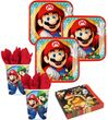 36 Teile Super Mario Party Deko Basis Set - für 8 Kinder