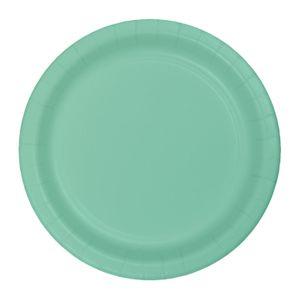 8 kleine Papp Teller Mint – Bild 1