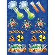 4 Sticker Bogen Genious Party