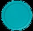 8 Teller Karibik Blau
