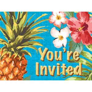 8 Einladungskarten Ananas Party – Bild 1