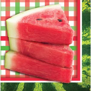 16 Servietten mit Wassermelone Motiv
