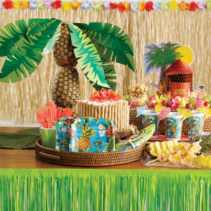 Xxl 96 Teile Ananas Grill Party Deko Set Sommer Party 8 Personen