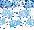 XXL 79 Teile Baby Shower Deko Set Storch Hellblau 16 Personen - Babyparty Junge
