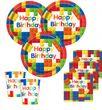 48 Teile Bausteine Geburtstags Party Set für 16 Kinder