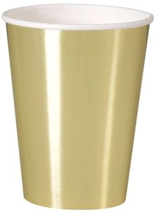 8 Papp Becher Gold Glanz
