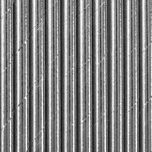 10 Papier Trinkhalme silber glanz – Bild 1