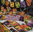 8 Papp Teller Halloween Geisterhaus