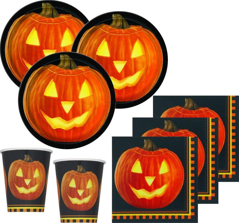 32 Teile Halloween Deko Set Kurbis 8 Personen Kids Party World