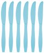 24 Teile Premium Plastik Messer Pastell Blau