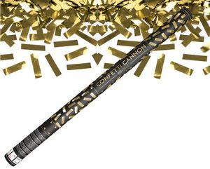 Konfetti Kanone Goldene Streifen 80 cm