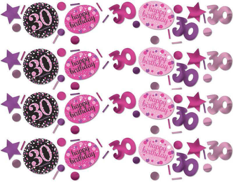 Deko Konfetti 30 Geburtstag In Pink Glitzer
