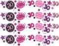 Deko Konfetti 30. Geburtstag in Pink Glitzer