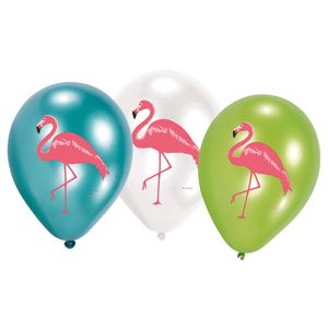 6 Luftballons Flamingo Paradies