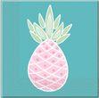 20 Servietten Ananas Pastell Farben Party