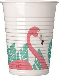 8 Plastik Becher Flamingo Party
