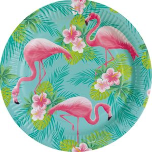 8 Teller Flamingo Paradies