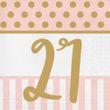 20 Servietten zum 21. Geburtstag Pink Chic