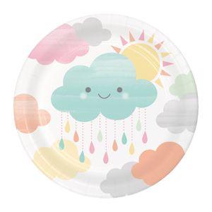 8 kleine Teller Sunshine Babyshower