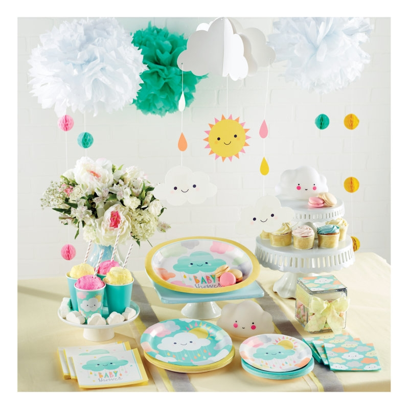 32 teile sunshine babyshower party deko set f r 8 personen