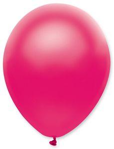 6 Luftballons Pink Metallic