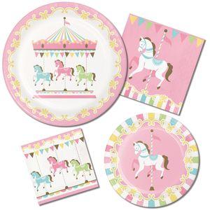XXL Banner klassische Babyparty Pferde Karussell – Bild 2