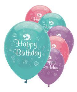 6 Luftballons kleine Meerjungfrau