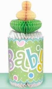 Tischaufsteller Babyflasche Pastell