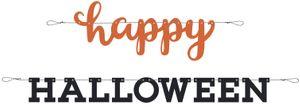 Halloween Buchstaben Girlande Schwarz Orange