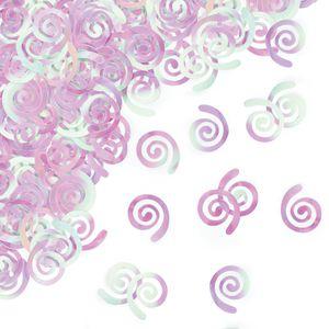 Glitzer Swirl Konfetti Irisierend