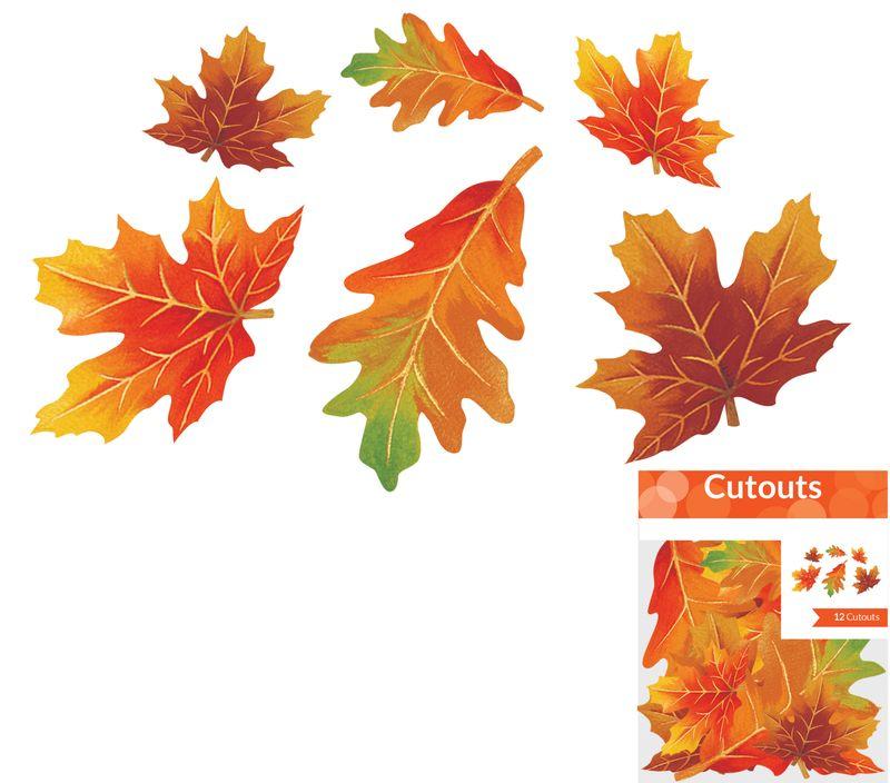 12 Kleine Herbst Blätter Ahorn Und Eiche Aus Papier
