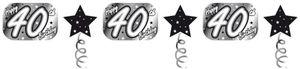 XXL Geburtstags Banner Schwarz und Silber 40. Geburtstag