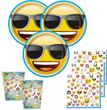 32 Teile Emoji Party Deko Set für 8 Personen