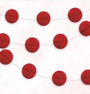 Girlande mit roten Papier Dekobällen