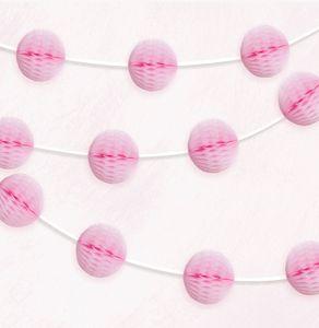 Girlande mit rosa Papier Dekobällen