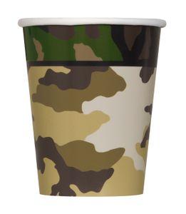 8 Papp Becher Camouflage
