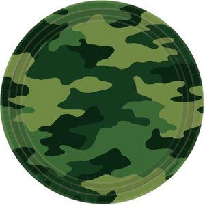 8 Papp Teller Camouflage grün – Bild 1