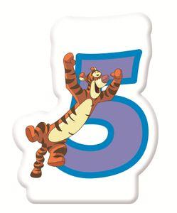 Winnie Puuh Zahlenkerze 5