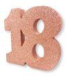 Deko Glitzer Zahl 18. Geburtstag RoseGold