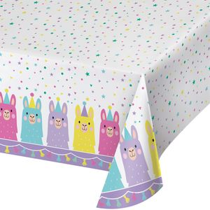 Tischdecke bunte Lama Party