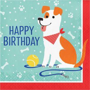 16 Geburtstags Servietten Hunde Party