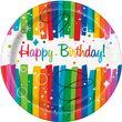 8 Papp Teller Regenbogen Geburtstag