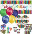 XL Party Deko Set Regenbogen Geburtstag für 16 Personen