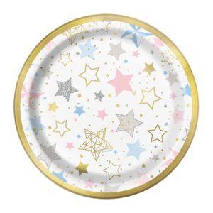 8 kleine glänzende Teller Twinkle twinkle little Star – Bild 1