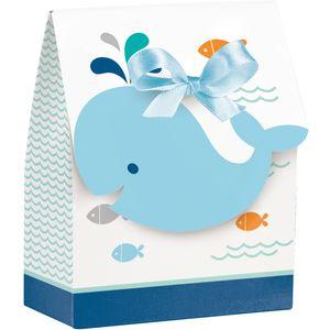 12 Happy Baby Wal Party Blau Geschenk Boxen – Bild 1