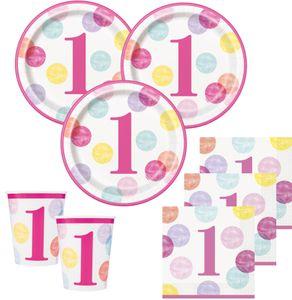 Geburtstags Girlande 1. Geburtstag Rosa Punkte – Bild 2