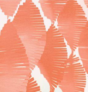 Fransen Girlande aus Seidenpapier in Coral – Bild 1