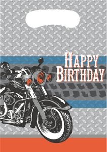 8 Party Tütchen Biker Party - Happy Birthday – Bild 1