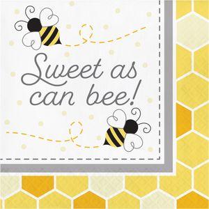 16 Servietten Bienchen Party Sweet as Bee can – Bild 1