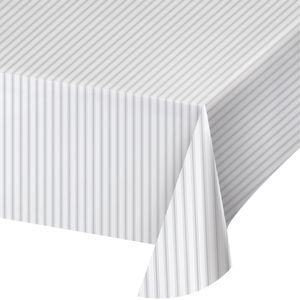 Plastik Tischdecke passend zur Silber Verzinkt Optik – Bild 1
